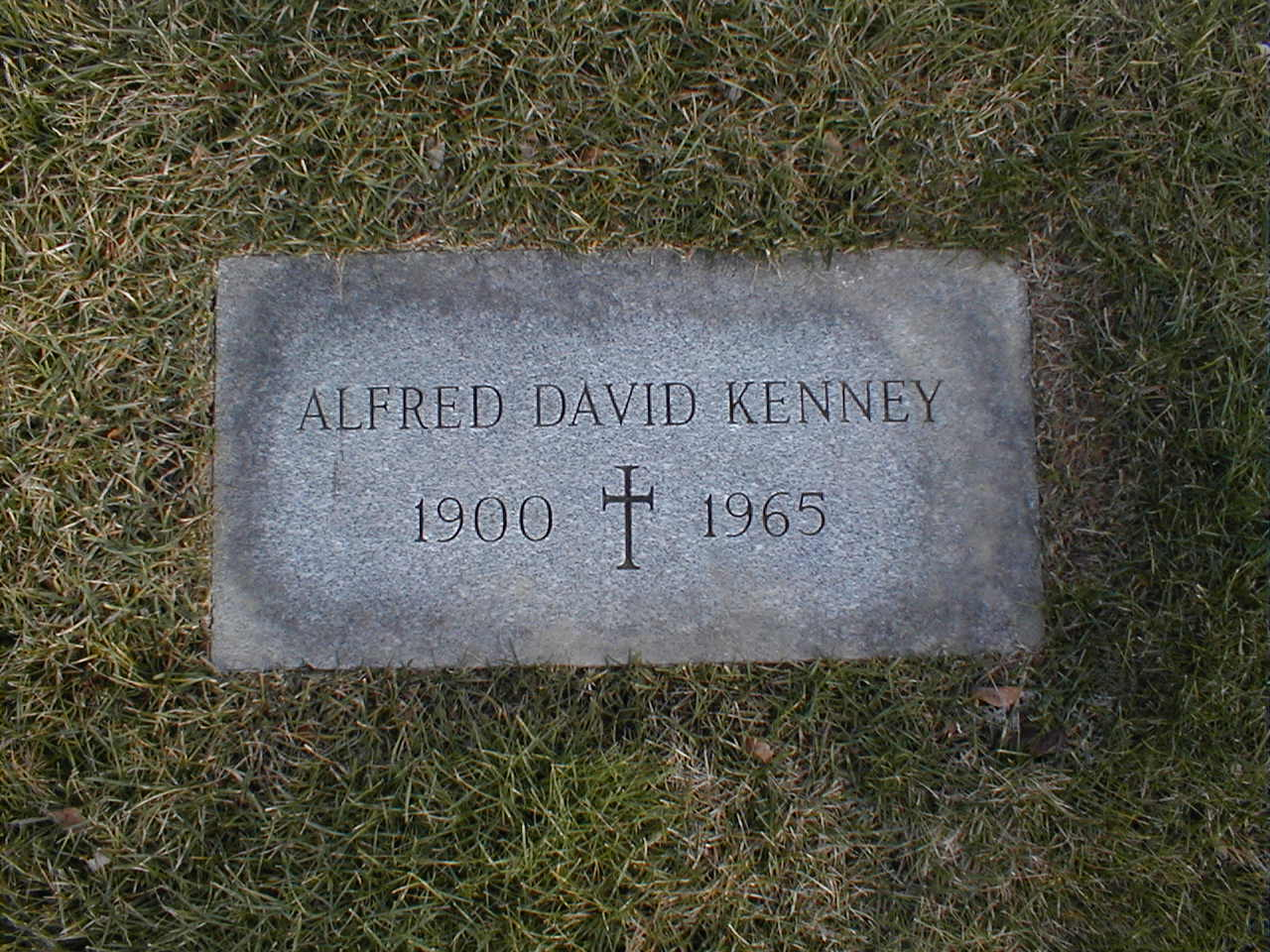 Alfred David Kenney - footstone