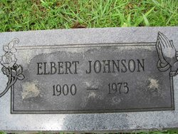 Elbert Johnson - footstone