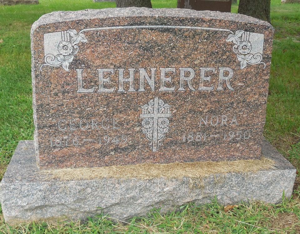 George and Nora (Hussey) Lehnerer - gravestone